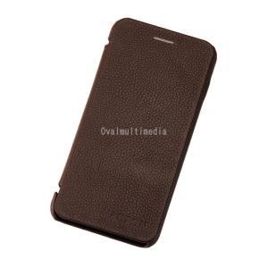 iPhone6用フリップケース 横 ブラウン ovalmultimedia