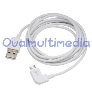 L字で使いやすいmicroUSBケーブル ホワイト2m|ovalmultimedia