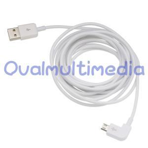 両面使えるUSB L字で使いやすいmicroUSBケーブル ホワイト3m|ovalmultimedia