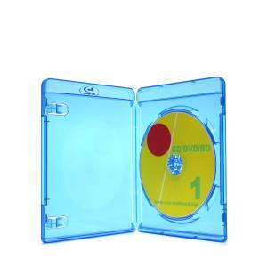 新型 Blu-rayを1枚収納 標準サイズのブルーレイディスクケースブルー1個|ovalmultimedia