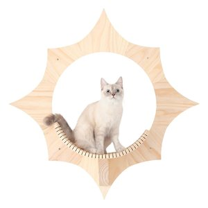 送料無料 MYZOO Solar キャットステップ キャットウォーク キャットタワー 猫用 太陽 お...