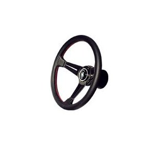 NARDI タイプラリー パンチングレザー/レッドステッチ 33φ  N753 デイープコーン ナルディ ハンドル特価販売|over-whelm7