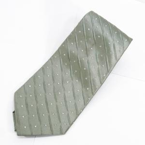【中古】フェンディ FENDI ネクタイ シルク - 総柄 GREEN グリーン メンズ