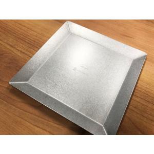 ステンレスプレート -KUGAMI- 小皿 取り皿 ※マット加工 アウトドア インテリアトレイ 小物入れ overnorth-store