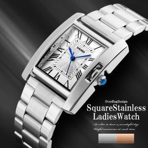 腕時計 レディースウォッチ レディース 時計 レディーススクエアステンレスウォッチ  母の日 カジュアル時計 レディース時計 ビジネス時計 30m防水 2019|overrag