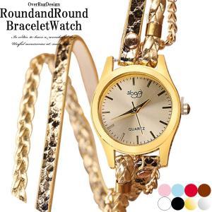 腕時計 レディース おしゃれ 安い ぐるぐる巻いてボリュームウォツチ ラウンドアンドラウンドブレスウォッチ ブレスレット カジュアル時計 PUレザー 2019|overrag