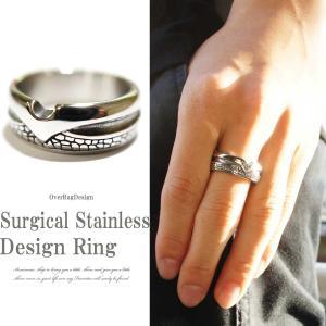 指輪 メンズ リング 大人アクセサリーのステンレスリング サージカルステンレスデザインリング ステン...