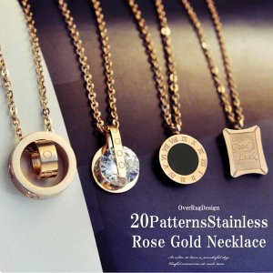 サージカルステンレスのカラーが美しく可愛らしいローズゴールドカラーのネックレスをボリューム満点、20...