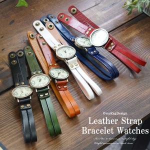 腕時計 メンズ 50代  40代 おしゃれ アクセ感覚で レザーストラップブレスレットウォッチ ブレスレット カジュアル時計 メンズ時計 レディース時計 革|overrag