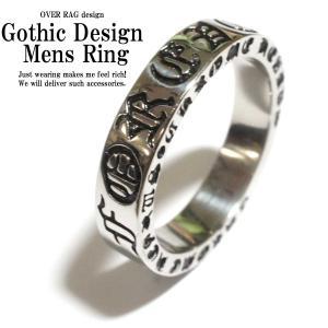 指輪 メンズ リング  大人のデザインステンレスリング ゴシックデザインステンレスリング メンズリング  十字架 ゴシック クロームハーツタイプ 2018|overrag
