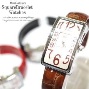 腕時計 レディース おしゃれ 安い 簡単装着ブレスウォッチ スクエアブレスレットウォッチ ブレスレット カジュアル時計 大人時計 レザー時計 革 2018aw|overrag