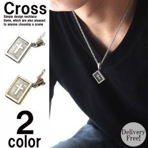 デザインが秀逸なネックレス。 聖書をモチーフデザインにし正面からはアクリルから覗く十字架。 裏面は王...