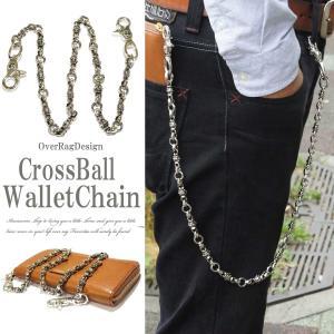 ウォレットチェーン クロスボールウォレットチェーン ウォレットコード  クロス 十字架  ウォレット チェーン 財布 キーホルダー 2017春夏|overrag