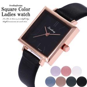 腕時計 レディース おしゃれ 安い 大人可愛いお求め安い スクエアカラーレディースウォッチ 腕時計 時計 ブレスレット カジュアル時計  PUレザー 2019|overrag