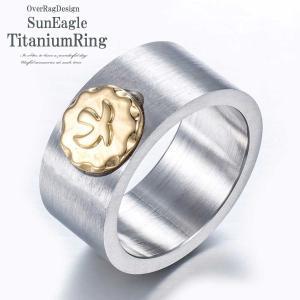指輪 メンズ リング  アメカジ必須のサンイーグルリング サンイーグルチタンリング メンズリング 指輪 チタンリング チタン メンズ リング サンイーグル  2018aw|overrag