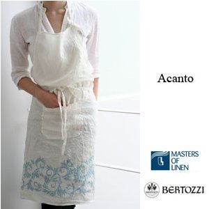 リネン エプロン アカント ベルトッツィ イタリア製 acanto bertozzi bz075s|ovlov