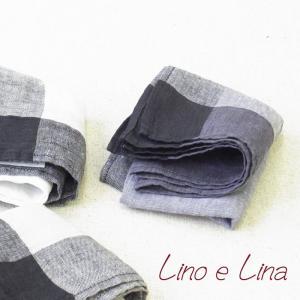 リネン ハンカチ クアドロ リトアニア製 Lino e Lina リーノエリーナ ハンカチ jn164|ovlov