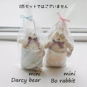 数量限定 小さいクマ 小さいウサギ 6重ガーゼハンカチ付き Ragtales mini bear bunny tales special2|ovlov