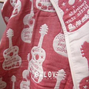 6重ガーゼケット 日本製 ギター 70x100 ベビー ガーゼケット 綿 オリジナルデザイン|ovlov|02