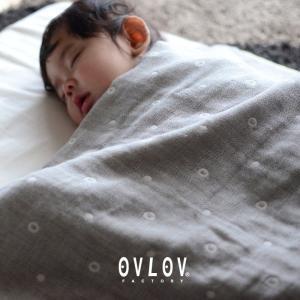 3重織り 綿ガーゼ 授乳ケープ マルチドット 日本製|ovlov