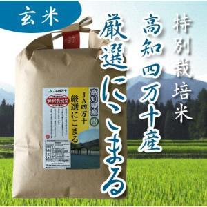 29年産 特別栽培米 高知四万十産 厳選にこまる 玄米 1kgの商品画像|ナビ
