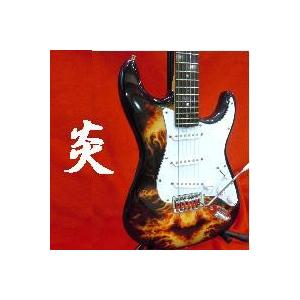 エレキギター ストラトタイプ 炎ドクロ|owariya-gakki