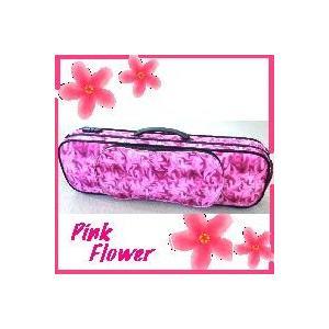 バイオリンケース ピンク・フラワー リュック可能 4/4サイズ owariya-gakki