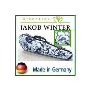 【新品アウトレット】バイオリンケース JAKOB WINTER ドイツ製 Retro/モノトーン花柄 4/4サイズ用|owariya-gakki