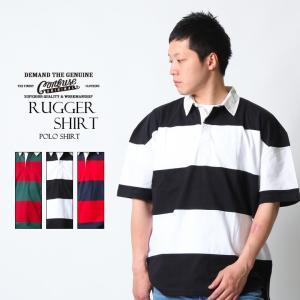ラガーシャツ ワイドシルエット ビッグシルエット 大きいサイズ ポロシャツ ボーダー M L 白 黒...