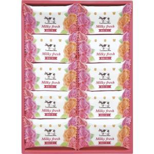 牛乳石鹸ミルキィフレッシュセット お風呂 バスタイム 入浴剤 ギフト 贈り物 石鹸 MF-10 引越し祝い 快気祝い|owlsalcove