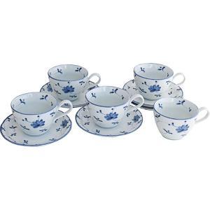 花唐草コーヒー5客 洋陶器 280119 引越し祝い 新築祝い owlsalcove