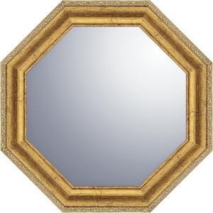 ヴィンテージ八角ミラー19.5cmゴールド 鏡 VM-02005 引越し祝い 新築祝い|owlsalcove