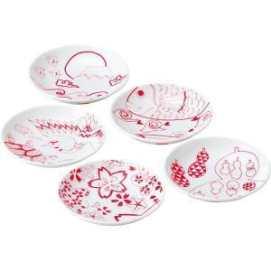 天下泰平豆皿5枚セット 和陶器 266605 引越し祝い 新築祝い|owlsalcove