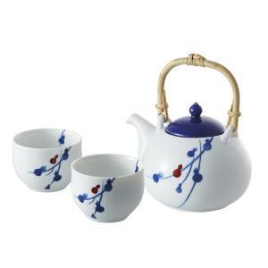 miyama.fucube 茶器セット(染付六ツ瓢) 和陶器 94-126-141 引越し祝い 新築祝い owlsalcove