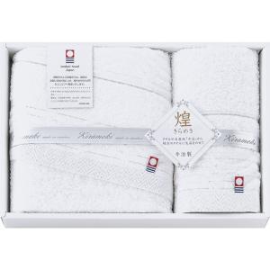 今治製タオル きらめきフェイスタオル&ハンドタオル タオル IMT52150WH 快気祝い|owlsalcove