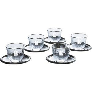 銀の月 冷茶5客セット G079-T267|owlsalcove