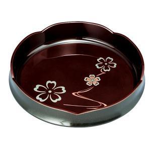 MAKOTO japan 溜 華ゆらぎ 梅型菓子鉢 24cm 2204058 owlsalcove