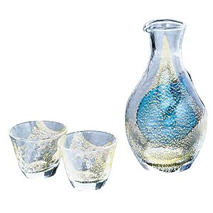 冷酒グラス 冷酒グラスセット 冷酒 金箔 G640-M60|owlsalcove