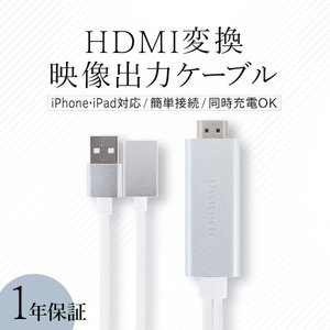 HDMI変換ケーブル iPhone iPadをテレビに接続 増税前スペシャルセール|owltech