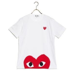コムデギャルソン Tシャツ RED PLAY T-SHIRT レッド プレイ az-t034-051-1 メンズ 2019SS WHITE COMME des GARCONS