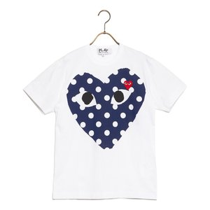 コムデギャルソン Tシャツ POLKA DOT ポルカドット az-t234-051-1 メンズ 2019SS WHITE COMME des GARCONS