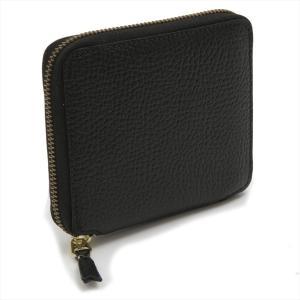 コムデギャルソン 財布 COMME des GARCONS sa2100ic ユニセックス ファスナー ウォレット 二つ折り ブラック