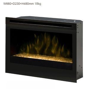 ビルトイン電気式暖炉 25インチ グラスエンバーベッド送料無料/ディンプレックスカナダ/イタヤランバー/暖炉 温風 ゆらぎ リビング 暖房器具|oxford-c