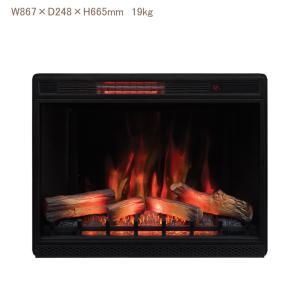 33インチ遠赤外線3D電気式暖炉本体 送料無料/LLOYD GRANDE/ロイドグランデ/暖炉 温風ヒーター リビング 輸入家具 暖房器具|oxford-c