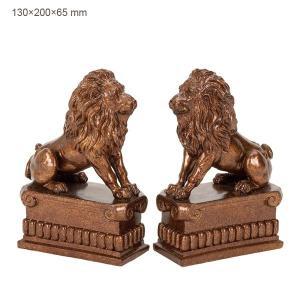 ライオンのブックエンド2個セット 36421/送料無料|oxford-c