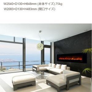 100インチ ビルトイン電気式暖炉 AMBIANCE 100LX2  アクリルアイス 送料無料/REALFIRE/イタヤランバー/暖炉 温風 暖炉型ヒーター リビング 暖房器具|oxford-c