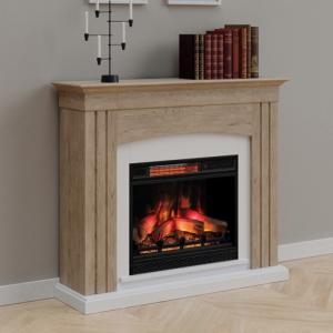遠赤外線3D電気式暖炉 アルカディア オーク 送料無料/LLOYD GRANDE/ロイドグランデ/温風ヒーター 暖炉型ヒーター 暖房器具|oxford-c