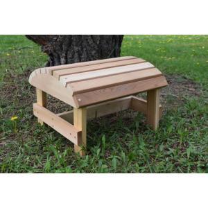 組立キット式ガーデンファニチャー/オットマン BC01(米杉材)/送料無料/組立済み|oxford-c