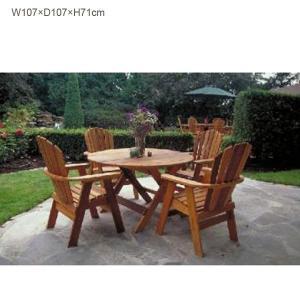 組立キット式ガーデンファニチャー/ダイニングテーブル BC42(米杉材)/送料無料|oxford-c