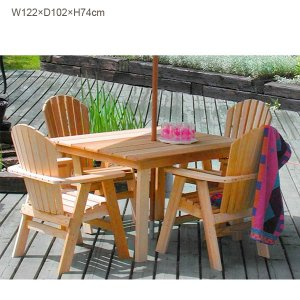 組立キット式ガーデンファニチャー/ダイニング四角テーブル BC440(パイン材)/送料無料|oxford-c